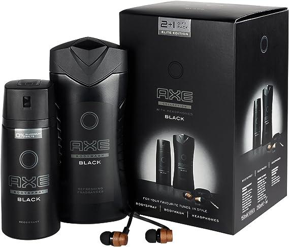 Set de regalo Black de Axe con auriculares de madera, paquete de 1 unidad: Amazon.es: Belleza