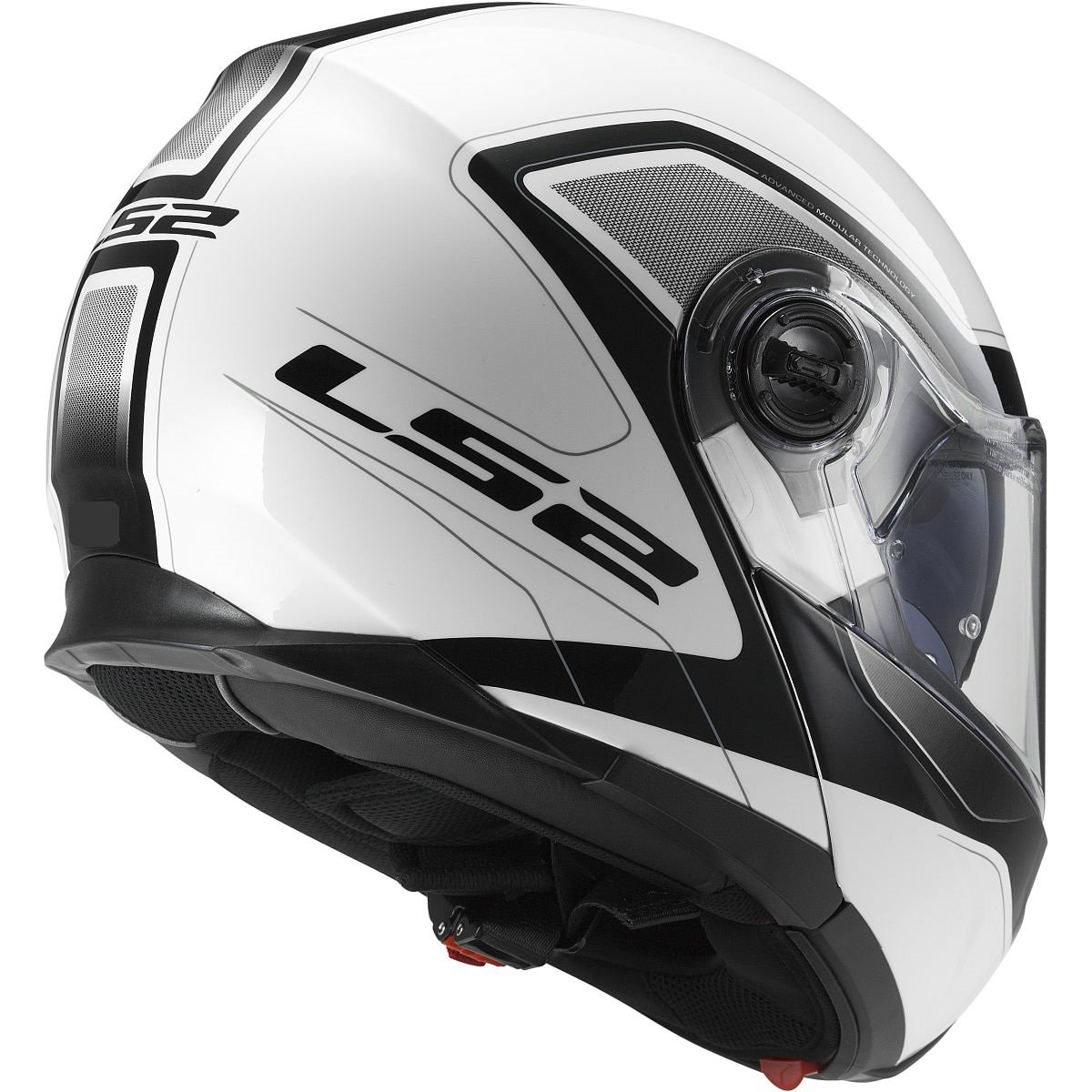 Amazon.com: LS2 Helmets Strobe Civik Modular Motorcycle Helmet with Sunshield (White, XXX-Large): Automotive
