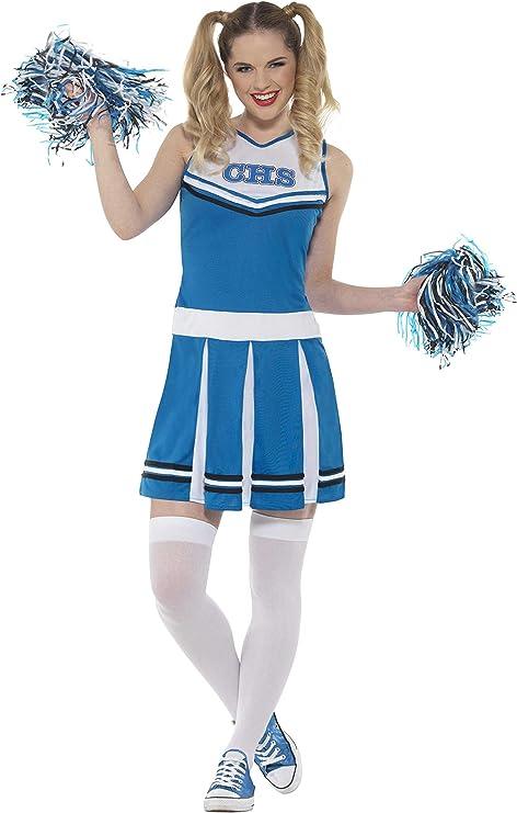SmiffyS 47123Xs Disfraz De Animadora Con Vestido Y Pompones, Azul ...