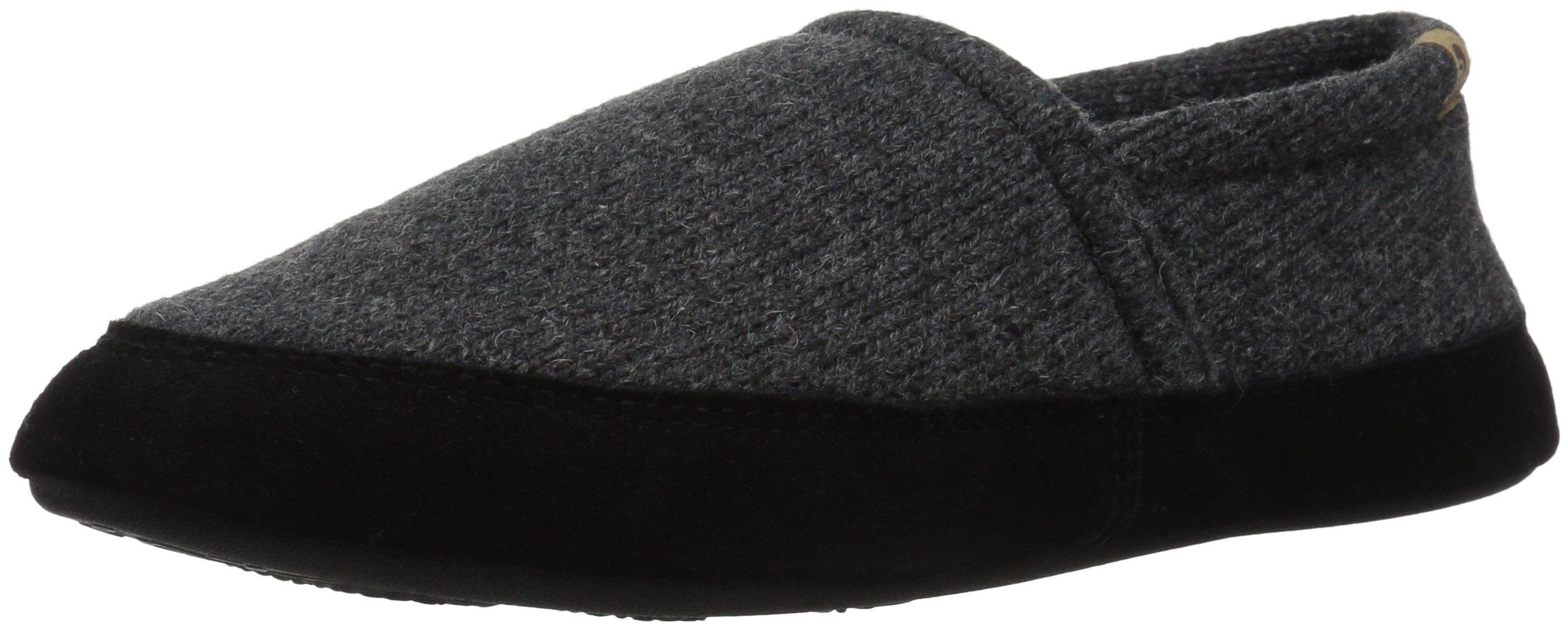Acorn Men's Moc Slipper Moccasin, Dark Charcoal, Medium/9-10 D(M) US