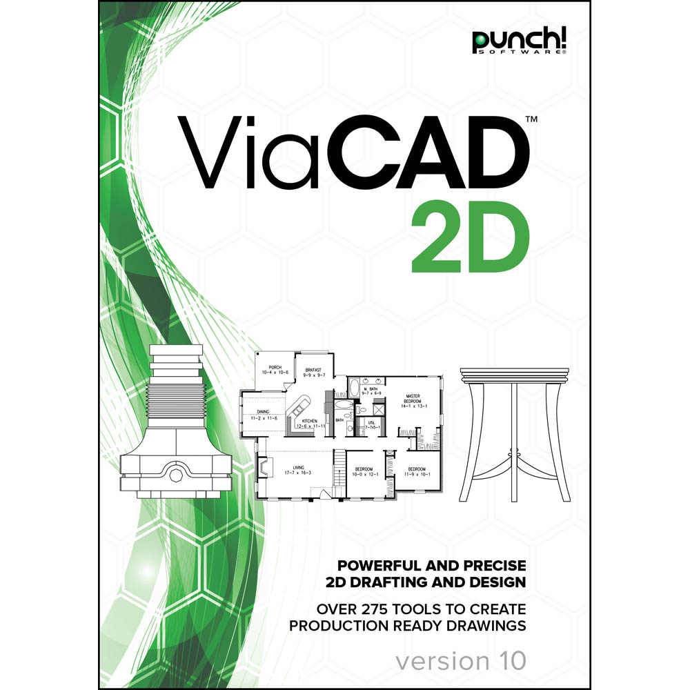 Punch! ViaCAD 2D v10 for Mac (Punch Design Software)