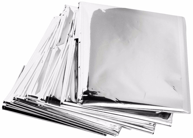 GIGA-MARKET 10 Pack Emergency Solar Blanket Survival Safety Insulating Mylar Thermal Heat