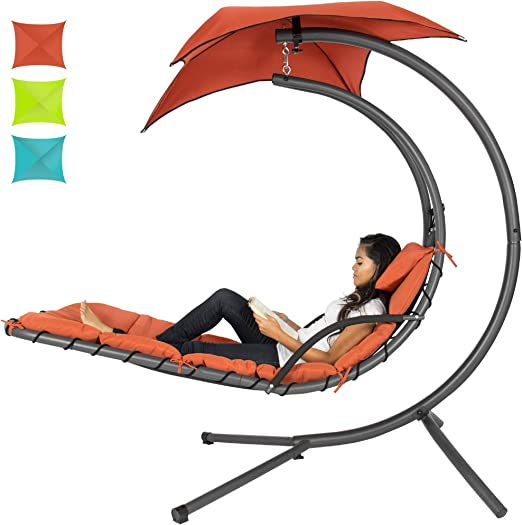 Best Choice Products Outdoor Hanging Curved- The Best hammock Lounge Chair with Stand