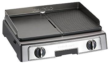 Cuisinart PL50E Parrilla Eléctrico y Barbacoa, Plancha, Negro, Acero Inoxidable: Amazon.es: Hogar