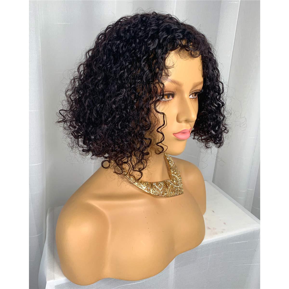 Wiggins Brazilian Virgin Human Hair Wigs for Women Wavy Afro Kinky Curly Hair Bob Wigs Natural Color (14