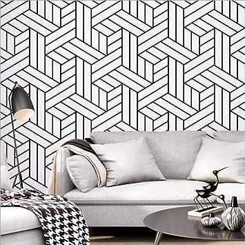 Meaosyy Papier Peint De Style Nordique Ins Tv Fond Noir Et ...