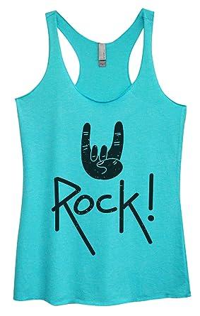 """533d9d6981d98 Women s Triblend Tank Top """"Rock!"""" Workout Shirt Concert Tank Top Funny  Threadz"""