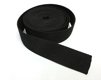 5 m Taschengurt  Rucksack-Gurt  PP Band  25 mm schwarz