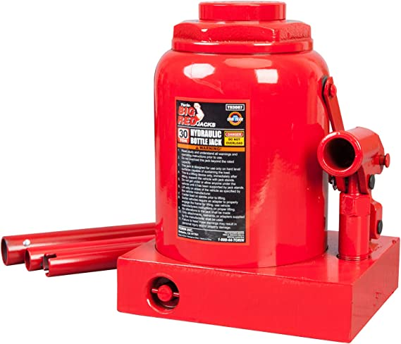 BIG RED T93007 Torin Hydraulic Stubby Low Profile Welded Bottle Jack