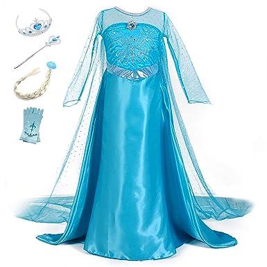 Kostum Eiskonigin Fur Madchen Prinzessin Kinder Fasching Karneval Elsa