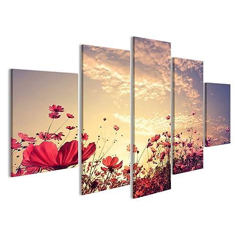 Quadri moderni natura sfondo Paesaggio di bella rosa e del cosmo ...