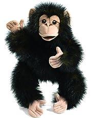 Folkmanis Baby Chimpanzee Hand Puppet, Black