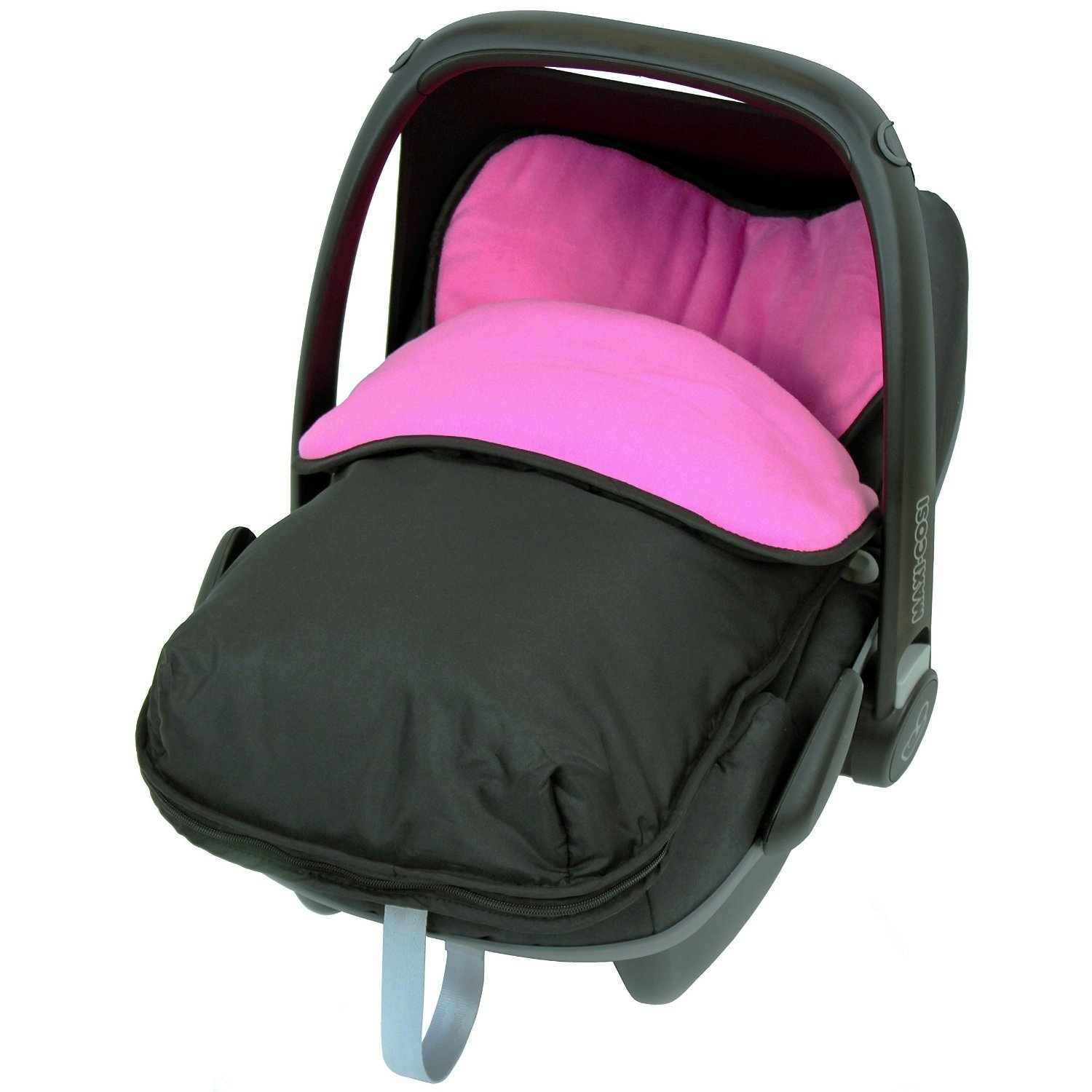 Universal Car Seat Footmuff To Fit Mamas and Papas - Pink (Black/Pink) iSafe iSBgtCrsFmBlue