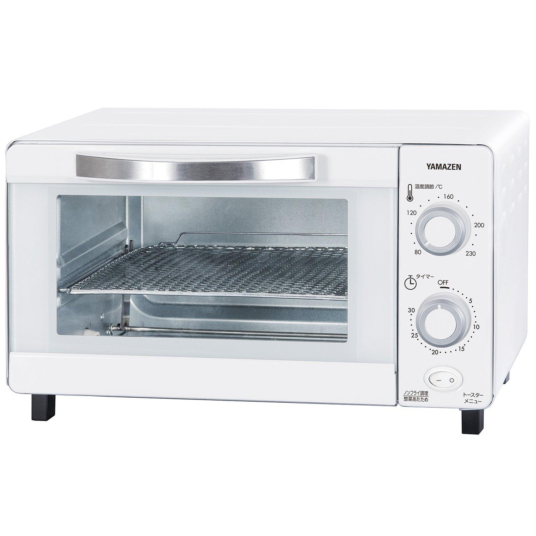 山善 ノンフライ&トースター コンベクションオーブン カリッとネット付 ホワイト YNA-100(W) product image
