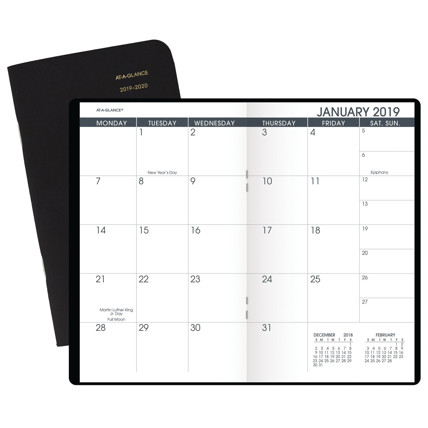 at a glance 2019 2020 monthly planner 2 year 3 1 2 x 6 pocket