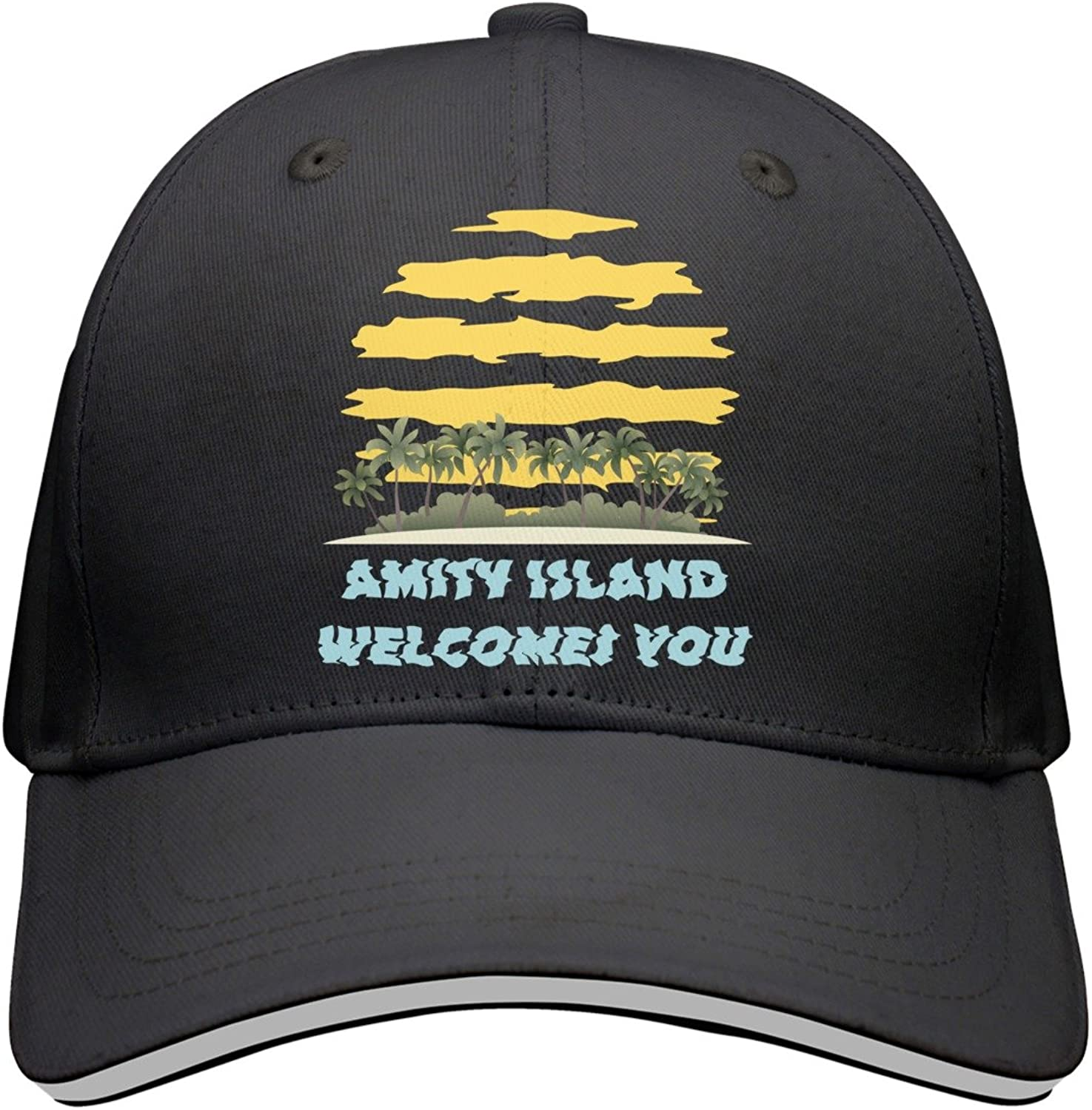 Kr.JAIEN Baseball Cap for Men and Women Amity Island Welcomes You Cool Peaked Cap for Boy and Girls
