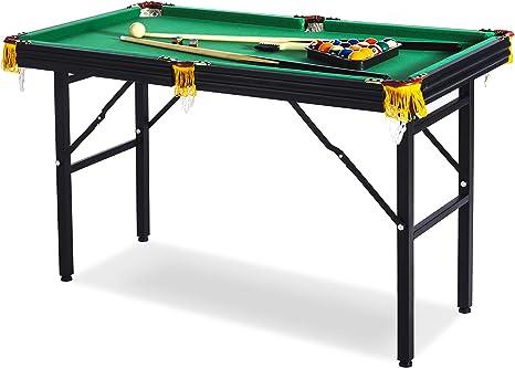 Rack Leo Mesa de Billar Plegable de 4 pies, Incluye Juego Completo de Accesorios: Amazon.es: Deportes y aire libre