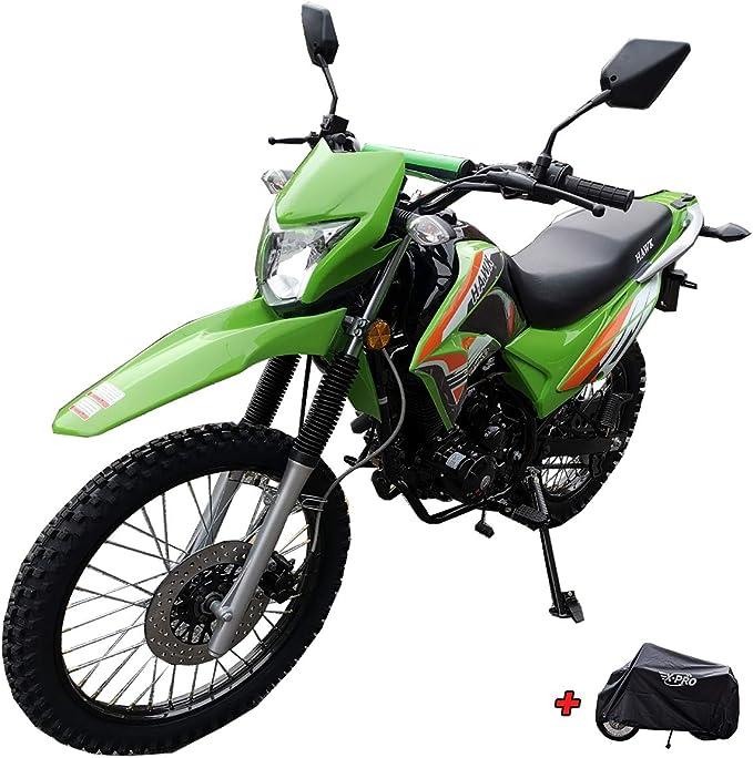 Green Bluetooth Speaker and Phone Bracket X-Pro 2020 Version Hawk DLX 250 EFI Fuel Injection 250cc Endure Dirt Bike Motorcycle Bike Hawk Deluxe Dirt Bike Street Bike Motorcycle with Motorcycle Cover