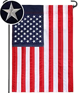 Mogarden American Garden Flag Classic, Embroidered Stars, 12.5 x 18 Inches, Sewn Stripes Double Stitched, Patriotic 4th of July USA Yard Flag