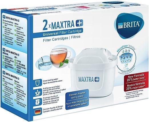 BRITA MAXTRA+ – Pack 2 filtros para el agua, Cartuchos filtrantes compatibles con jarras BRITA que reducen la cal y el cloro: Amazon.es: Hogar