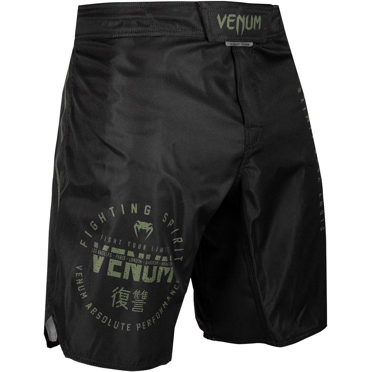 Venum Signature MMA Fight Shorts Black//Khaki