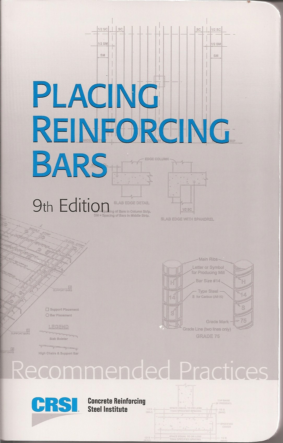 Placing reinforcing bars 9th edition crsi amazon books fandeluxe Choice Image