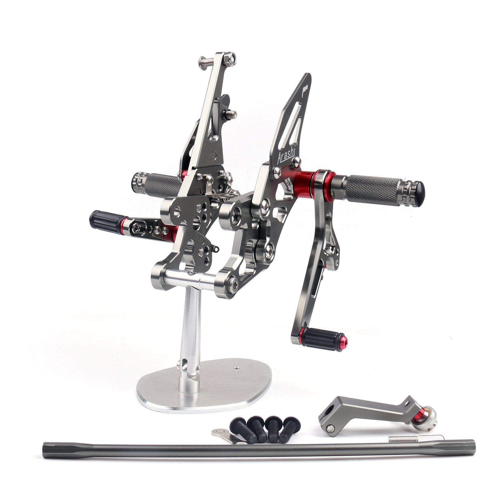 Areyourshop CNC Adjustable Rearsets Rear Set Footpeg Fit Yamaha FZ1 2006-2014 FZ8 2010-2013