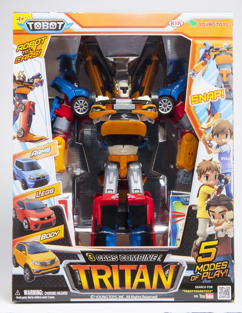 Tobot Youngtoys Tritan 3 Car Integration Robot Transforming Robot Car to Robot Animation Character by Tobot (Image #2)
