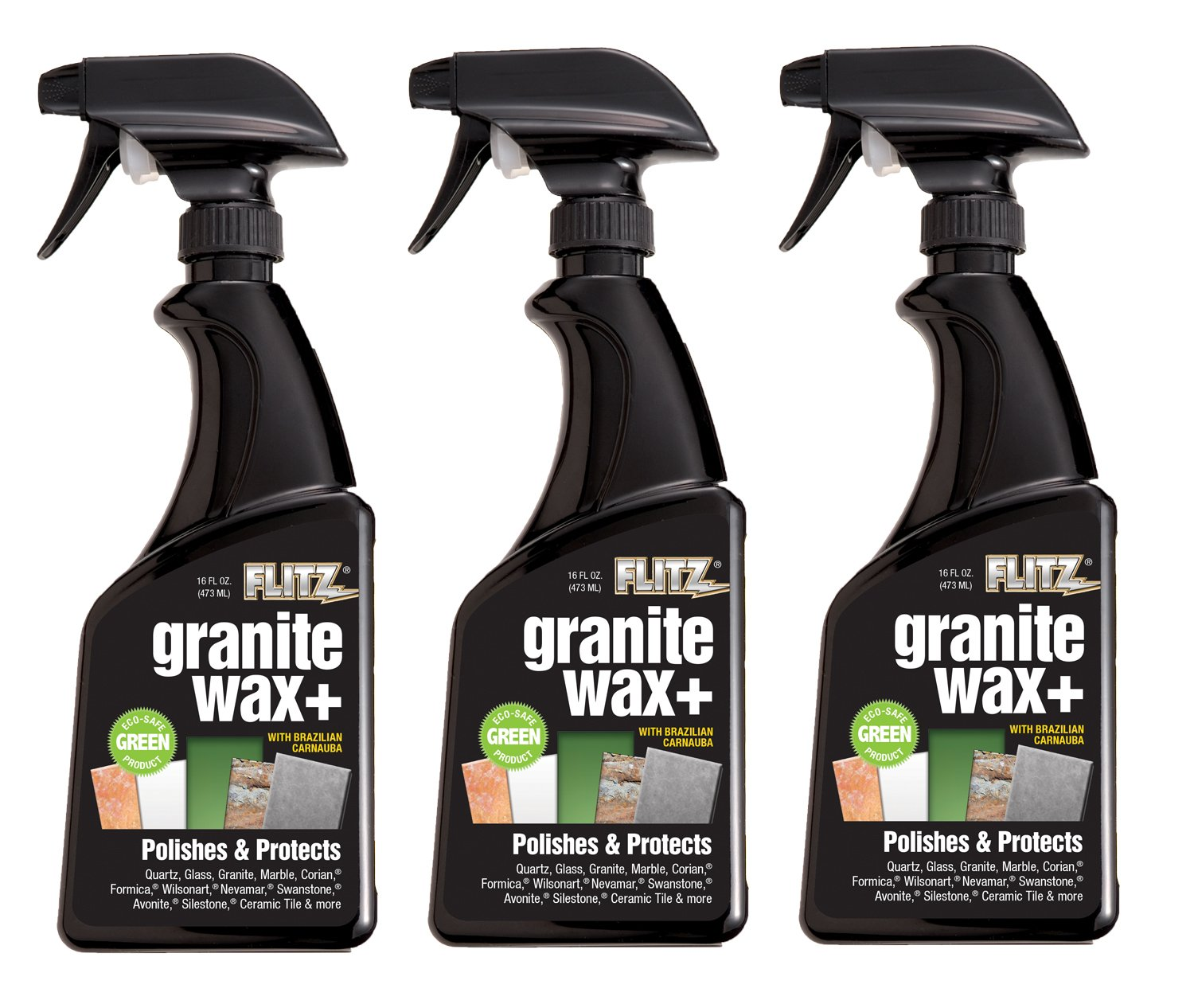 Amazon.com: Flitz GRX 22806-3A-3PK Granite Waxx Plus, 16 oz. Spray ...