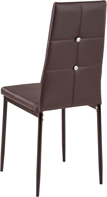 disponibile in diversi colori e quantit/à 6x grigio   no. 402542 TecTake Set di sedie per sala da pranzo 40x42x97cm  