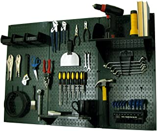 product image for Pegboard Organizer Wall Control 4 ft. Metal Pegboard Standard Tool Storage Kit with Green Toolboard and Black Accessories