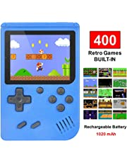 Handheld Game Console, TAPDRA Retro Game Console with 400 Classic Games 3.0 inch Screen Portable Game Console, Good Gifts for Kids