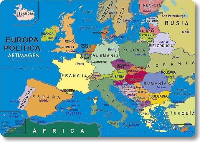 Mapa De Europa Politico.Artimagen Iman Mapa Europa 80x55 Mm Amazon Es Hogar