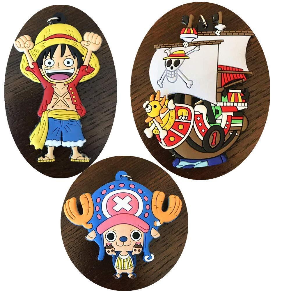 Amazon.com: One Piece Luffy Keychain Chopper Roronoa Zoro ...