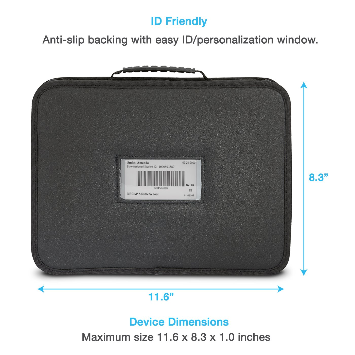 Ultrabook and Notebooks for Students and Business UZBL 11-11.6 inch EVA Always On Work-in Protective Laptop Sleeve and Case with Accessory Pouch Carrying Handle and Shoulder Strap for Chromebook