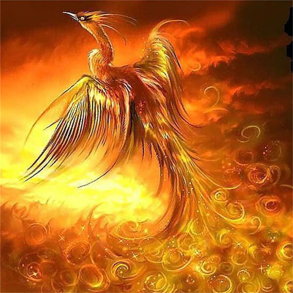 3D DIY Diamond Painting Phoenix Bird Drawings Pictures Crystals Hobby Mosaic Rhinestone Embroidery