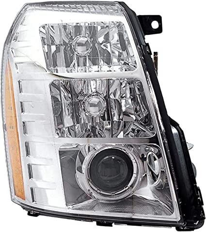 HID MODEL FOR 2003-2006 CADILLAC ESCALADE//ESV//EXT REPLACEMENT HEADLIGHT CHROME