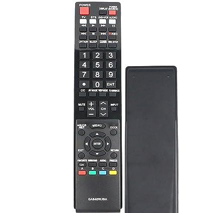 New RRMC GA840WJSA Smart TV Remote Control Fit for Sharp Aquos TV  LC40LE820UN LC46LE810UN LC52LE810 LC52LE810UN LC60LE810 LC-40LE810  LC-40LE820