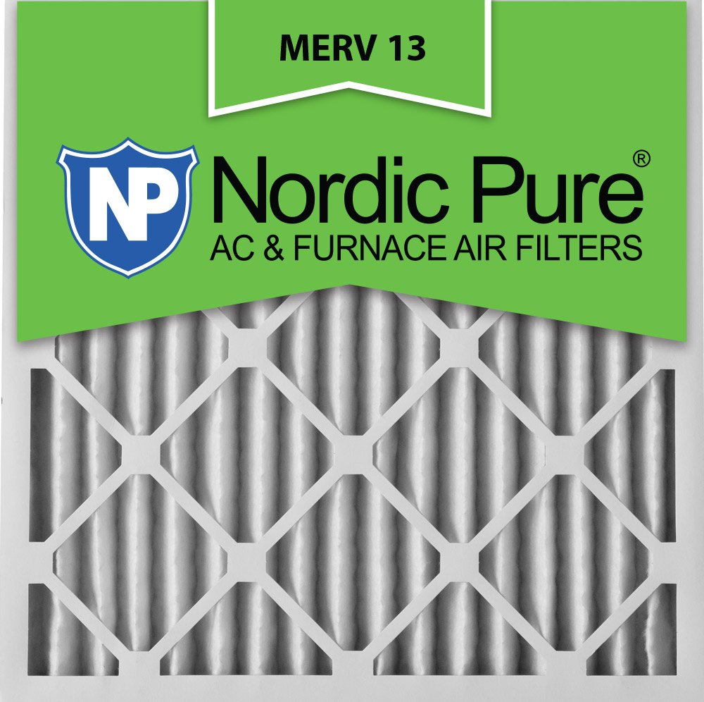 Nordic Pure 18x18x2 MERV 13 Pleated AC Furnace Air Filters 2-Inch 3 Pack