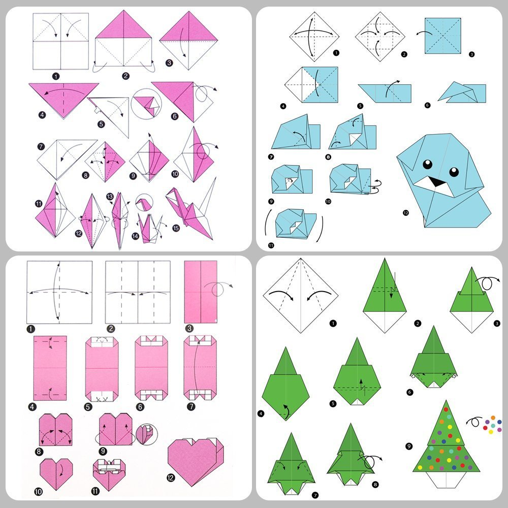 Papel para origami, nexlook superior doble cara 250 hojas 50 colores vivos cuadrado DIY plegable de papel para Origami Crane para artes manualidades ...