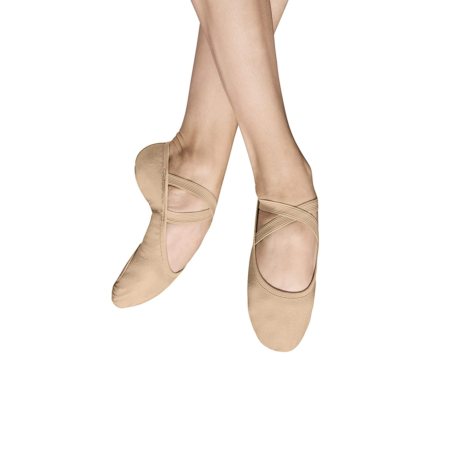 [Bloch] Performa Ballet Shoe Fabric Flat B076CQ8D7H 4 C|サンド サンド 4 C