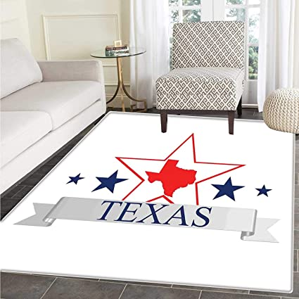 Texas Star Customize Floor mats for home Mat San Antonio Dallas Houston Austin Map with Stars