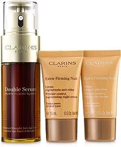 Clarins Double Serum Extra-Edition Set: Double Serum 50ml + Extra-Firming Day Cream 15ml + Extra-Firming Night Cream 15ml 3pcs