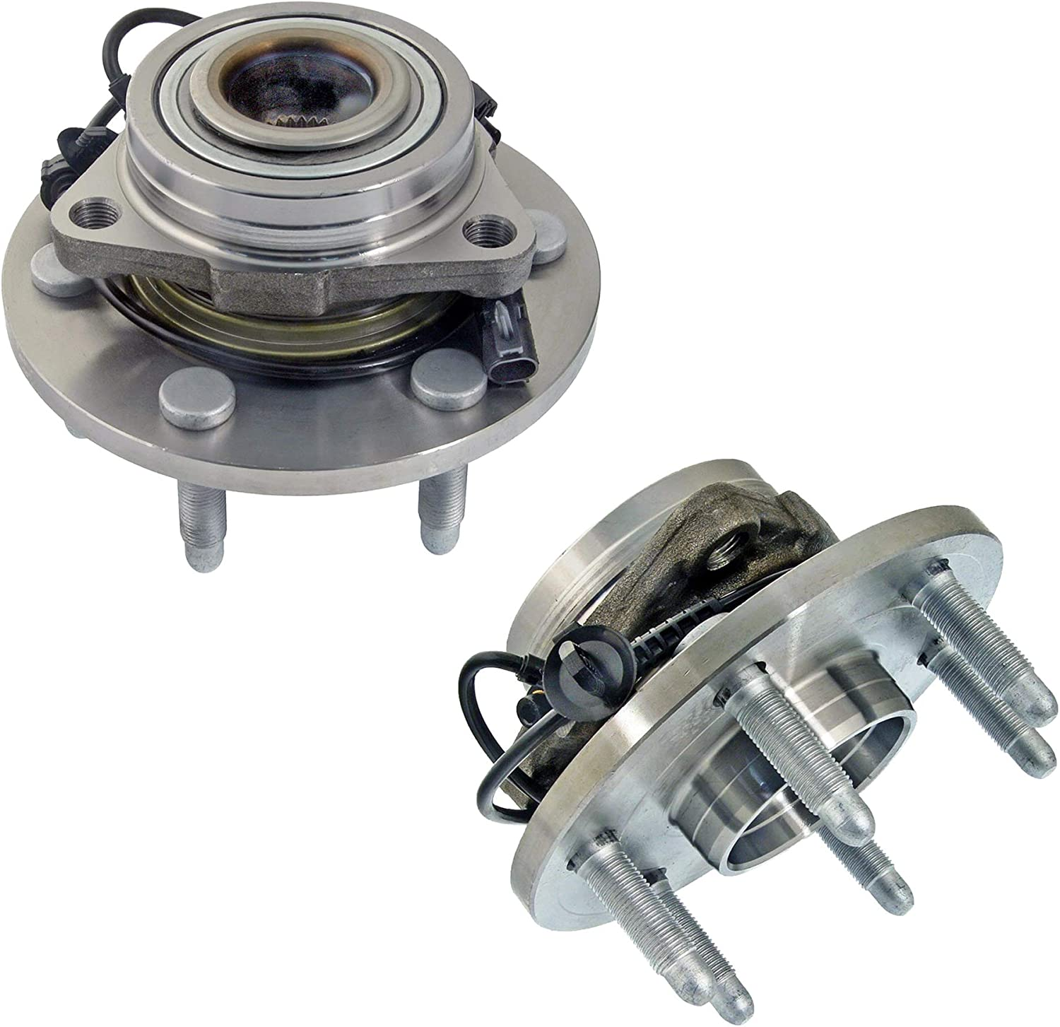 Detroit Axle 515096 Front Wheel Bearing and Hub Assembly 2pc Set