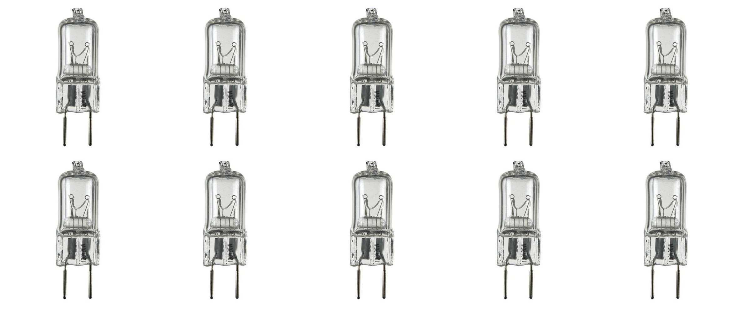 12vmonster 10 pack g8 20watt 120v halogen light bulbs jcd