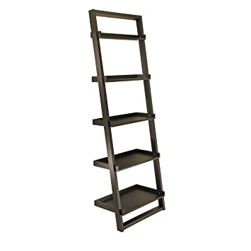 Winsome Wood 29525 Bailey Shelving Black