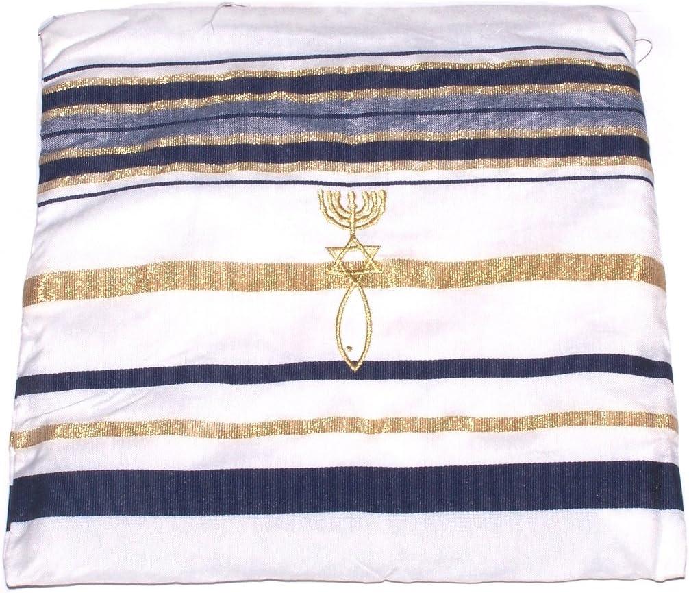 Englisch//Hebr/äisch und Tasche Heiliges Land schwarz Neuer Bund Gebet Schal Israel