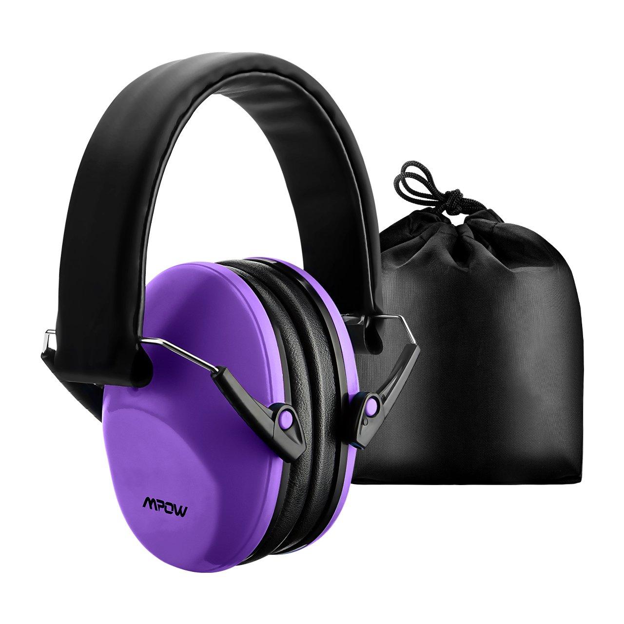 Mpow Casque Anti-bruit Enfant Adulte Pliable Réglable avec Sac Transport, Casques Antibruit à Protection Auditive de Réduction du Bruit pour Concert/Feu d'Artifice, Cache-Oreilles NRR 25dB/SNR 29dB
