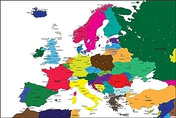 Länder Europas Karte.Postereck Poster 0937 Politische Karte Europa Laender Kontinent