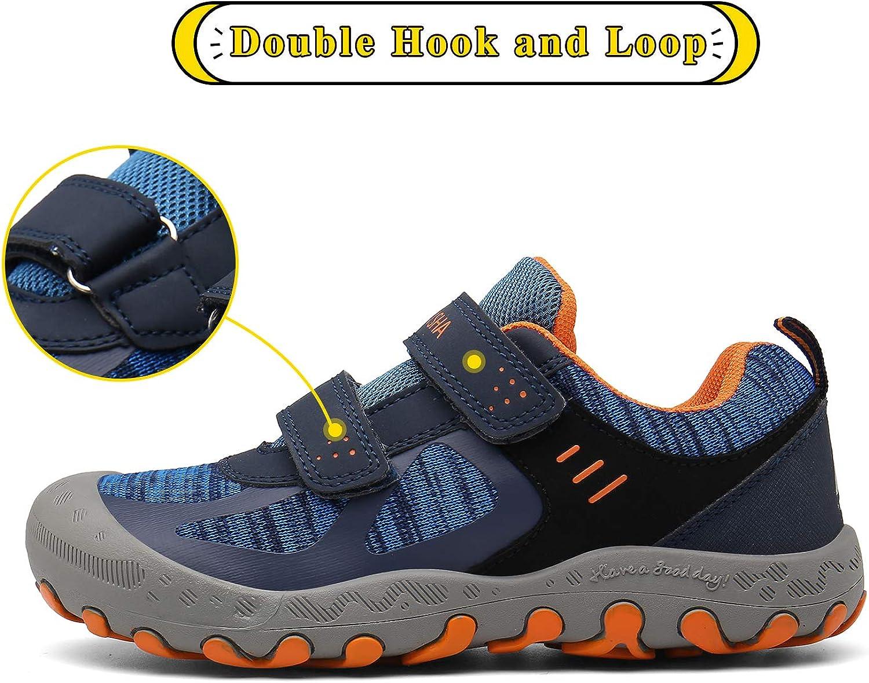 Mishansha Boys Girls Hiking Shoes Mesh Knit Low Top Sneakers Outdoor Trekking Walking Climbing Running